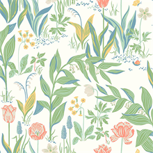 Spring Garden Off-White Botanical Wallpaper
