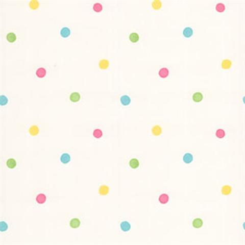 Sprinkles White Polka Dots Wallpaper