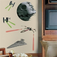 Star Wars Classic Ships Giant Wall Decals