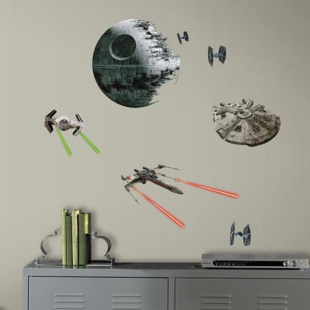 Star Wars Classic Ships Peel and Stick Wall Decals