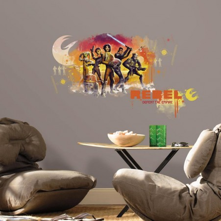 Star Wars Rebels Watercolor Giant Wall Decals