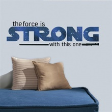 Star Wars Strong Quote Peel and Stick Wall Decals