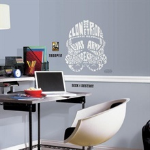 Star Wars Typographic Clone Trooper Giant Wall Decal