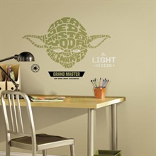 Star Wars Typographic Yoda Giant Wall Decal