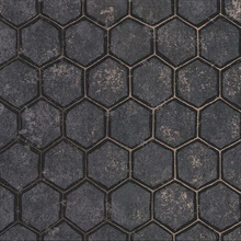 Starling Charcoal Honeycomb Wallpaper