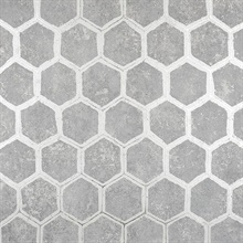 Starling Pewter Honeycomb Wallpaper