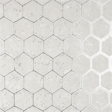 Starling Silver Honeycomb Wallpaper