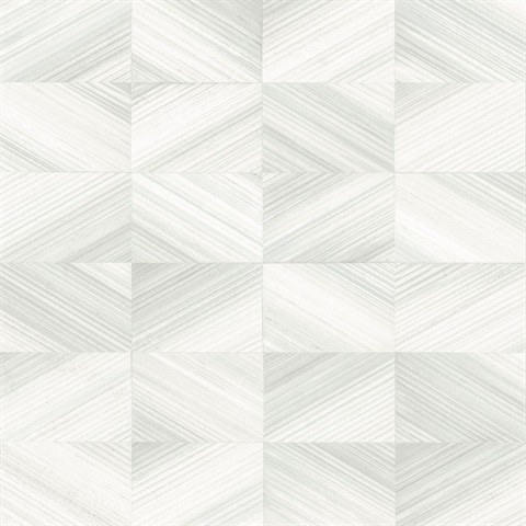 Stratum Light Grey Geometric Faux Wood Wallpaper
