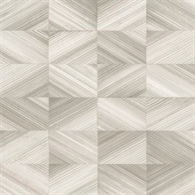 Stratum Taupe Geometric Faux Wood Wallpaper