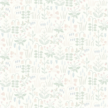 Strawberry Field Cream Garden Wallpaper