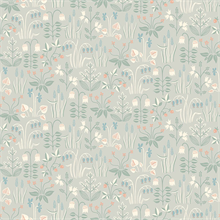 Strawberry Field Grey Garden Wallpaper