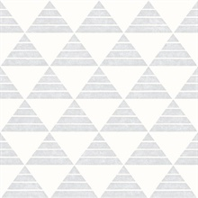 Summit Light Grey Triangle Wallpaper