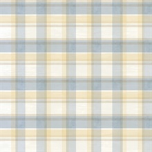 Sunday Blue Tartan Wallpaper