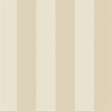 Tan and Beige Vertical 2.5in Tent Stripe Prepasted Wallpaper