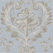 Tangler Blue Brilliant Damask Wallpaper
