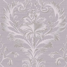 Tangler Purple Brilliant Damask Wallpaper