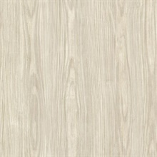 Tanice Beige Faux Wood Texture