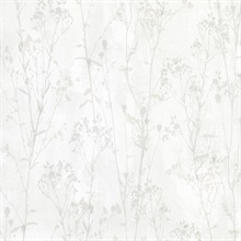 Tanner Off-White Floral Silhouette Wallpaper