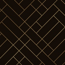 Tapet Café Tiles brown/gold