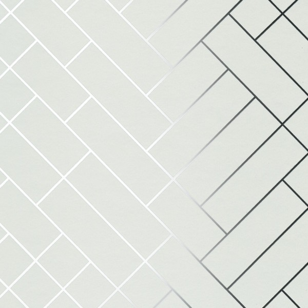 Tapet Caf 233 Tiles Silver White Tapet Cafe Tile002 Modern