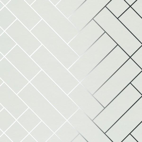 tapet caf tiles silver white tapet cafe tile002 modern. Black Bedroom Furniture Sets. Home Design Ideas