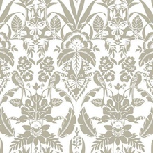 Taupe Botanical Damask