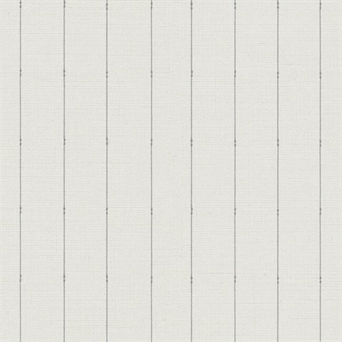 Taupe & Charcoal In Stitches Vertical Stripe Wallpaper