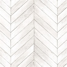 Taupe Faux Wood Chevron