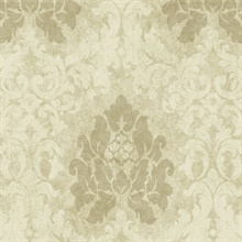 Taupe Haven Damask