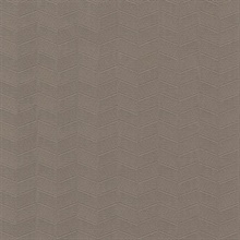 Taupe Insignia Geometric Heavy Textured Wallpaper