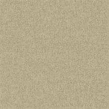Taupe Masquerade Faux Linen Textured Wallpaper