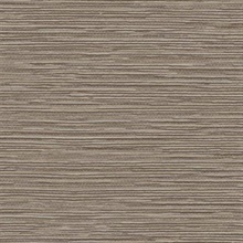 Taupe Ramie Faux Weave Horizontal Textured Wallpaper