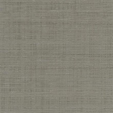 Taupe Spun Faux Silk Textured Linen Wallpaper
