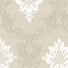Taupe Stephanie Damask