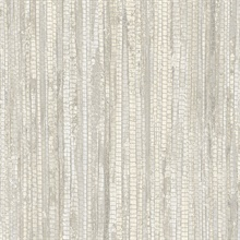 Taupe Vertical Faux Grasscloth