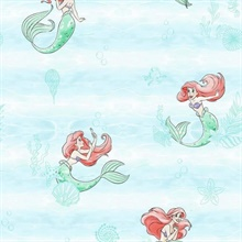 Teal Disney The Little Mermaid Swim Wallpaper