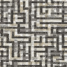 Tebessa Black Geometric Wallpaper