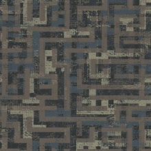Tebessa Dark Brown Geometric Wallpaper