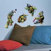Teenage Mutant Ninja Turtles In Action Wall Decals