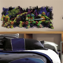 Teenage Mutant Ninja Turtles Turtle Trouble Giant Wall Decal