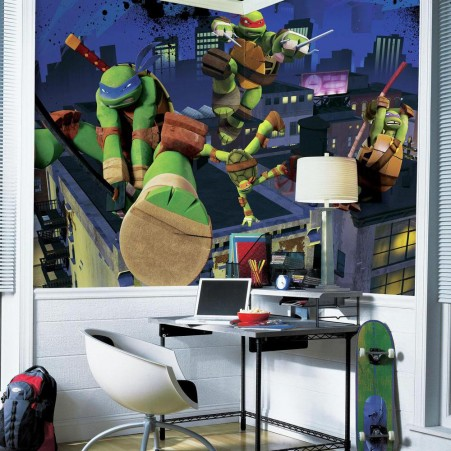 Teenage Mutant Ninja Turtles XL Wallpaper Mural 10.6' x 6'