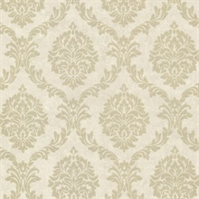 Tennyson Gold Shimmer Damask Wallpaper