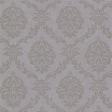 Tennyson Mauve Shimmer Damask Wallpaper