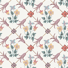 Tessin Multicolor Floral Geometric Wallpaper