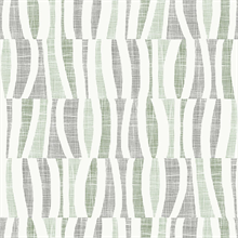 Tides Green Abstract Squiggly Vertical Lines Wallpaper