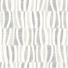 Tides Grey Abstract Squiggly Vertical Lines Wallpaper