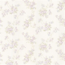Tiffany Lavender Satin Floral Trail