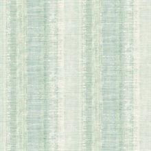 Tikki Faux Vertical Weathered Stripe Jade Wallpaper