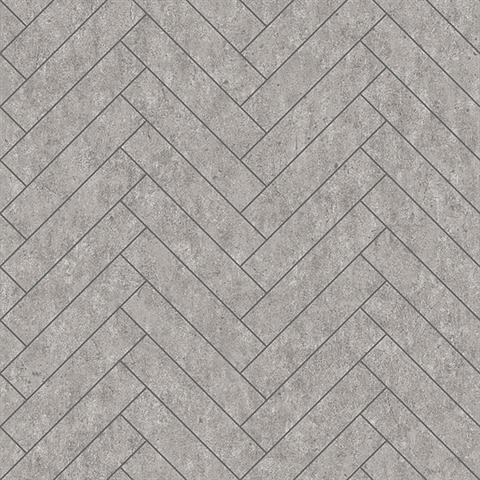 Tiles Light Grey Herringbone Concrete