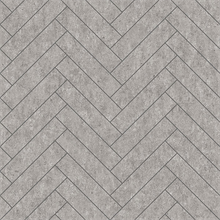 Tiles Light Grey Herringbone Concrete Wallpaper